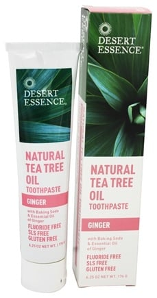 Desert Essence - Toothpaste Natural Tea Tree Oil With Baking Soda Ginger - 6.25 oz. LUCKY PRICE