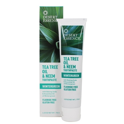 Desert Essence - Toothpaste Natural Tea Tree Oil & Neem With Baking Soda Wintergreen - 6.25 fl. oz.
