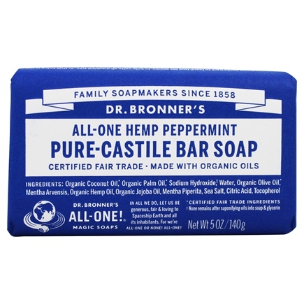 Dr. Bronners - Pure-Castile Bar Soap Hemp Peppermint - 5 oz.
