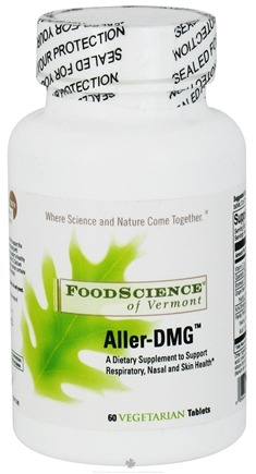 DROPPED: FoodScience of Vermont - Aller-DMG - 60 Tablets SPECIALLY PRICED
