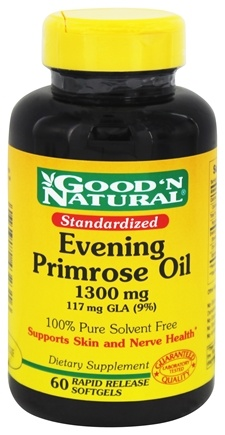 DROPPED: Good 'N Natural - Evening Primrose Oil 1300 mg. - 60 Softgels