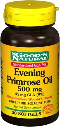 DROPPED: Good 'N Natural - Evening Primrose Oil 500 Mg 45 Mg GLA (9%) - 50 Softgels