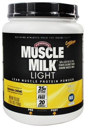 DROPPED: Cytosport - Muscle Milk Genuine Light Lower Calorie Lean Muscle Protein Banana Creme - 26.4 oz.