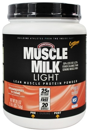 Zoom View - Muscle Milk Genuine Light Lower Calorie Lean Muscle Protein