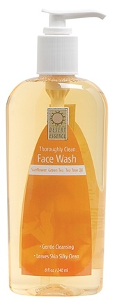 DROPPED: Desert Essence - Thoroughly Clean Face Wash Sunflower, Green Tea & Tea Tree Oil - 8 oz.