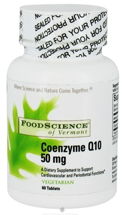 DROPPED: FoodScience of Vermont - CoEnzyme Q10 50 mg. - 60 Vegetarian Tablets CLEARANCE PRICED