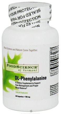 DROPPED: FoodScience of Vermont - DL-Phenylalanine - 60 Vegetarian Capsules CLEARANCE PRICED