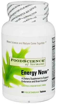 DROPPED: FoodScience of Vermont - Energy-Now - 60 Tablets