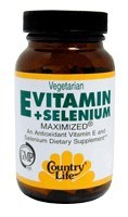 DROPPED: Country Life - E + Selenium Maximized - 60 Tablets