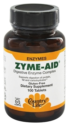 DROPPED: Country Life - Zyme-Aid Digestive Enzyme Complex - 100 Tablets