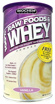 DROPPED: Biochem by Country Life - 100% Raw Foods & Whey Powder Vanilla - 13 oz. CLEARANCE PRICED