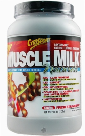DROPPED: Cytosport - Muscle Milk Natural Ultimate Lean Muscle Formula Natural Fresh Strawberry - 2.48 lbs. CLEARANCE PRICED