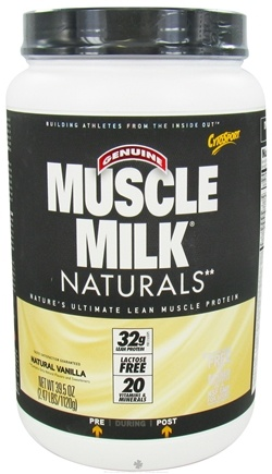 DROPPED: Cytosport - Muscle Milk Naturals Nature's Ultimate Lean Muscle Protein Natural Vanilla - 2.47 lbs.