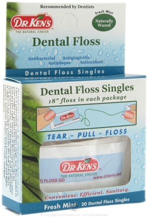 DROPPED: Dr. Ken's - Dental Floss Singles Mint - 20 Packet(s) SPECIALLY PRICED