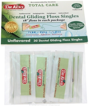DROPPED: Dr. Ken's - Dental Gliding Floss Singles - 30 Packet(s)