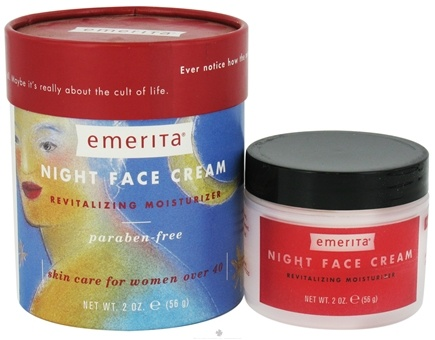DROPPED: Emerita - Night Face Cream Revitalizing Moisturizer Unscented - 2 oz. CLEARANCE PRICED