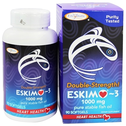 Enzymatic Therapy - Eskimo-3 Natural Stable Fish Oil Double Strength 1000 mg. - 90 Softgels