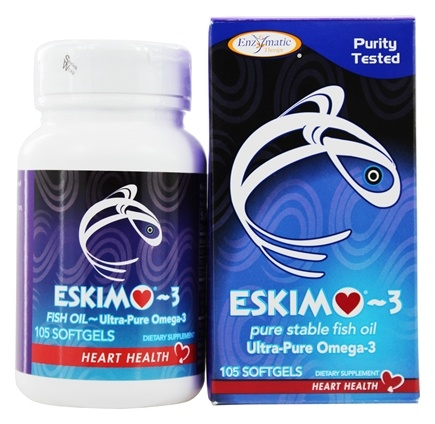 Zoom View - Eskimo-3 Natural Stable Fish Oil Ultra-Pure Omega-3