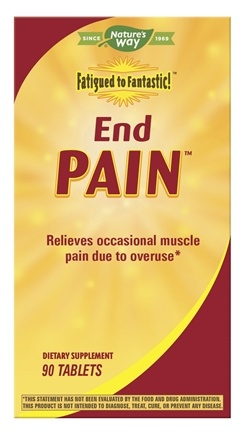 Enzymatic Therapy - Fatigued to Fantastic End Pain - 90 Tablets