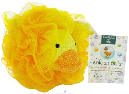 DROPPED: Earth Therapeutics - Splash Pals Animal Mesh Sponges Duck - CLEARANCE PRICED