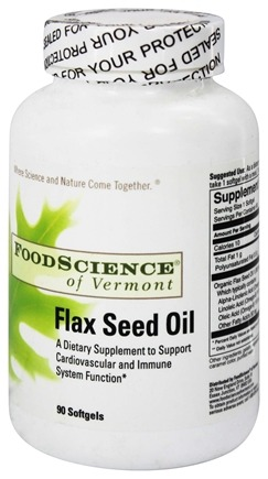 DROPPED: FoodScience of Vermont - Flax Seed Oil - 90 Capsules