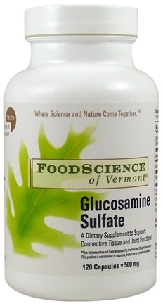 DROPPED: FoodScience of Vermont - Glucosamine Sulfate - 120 Capsules