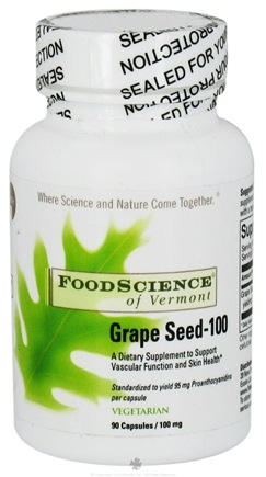 DROPPED: FoodScience of Vermont - Grape Seed-100 100 mg. - 90 Capsules CLEARANCE PRICED
