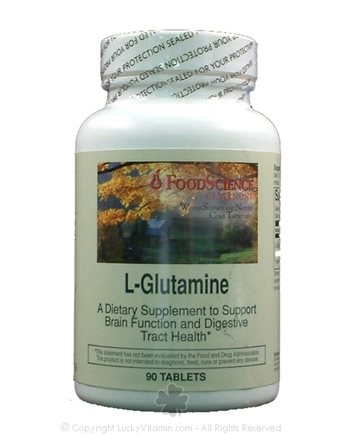 DROPPED: FoodScience of Vermont - L-Glutamine - 90 Tablets