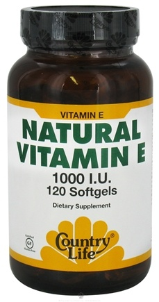 DROPPED: Country Life - Natural Vitamin E 1000 IU - 120 Softgels CLEARANCE PRICED