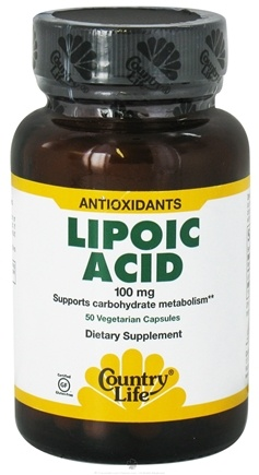 DROPPED: Country Life - Alpha-Lipoic Acid 100 mg. - 50 Vegetarian Capsules Formerly Biochem