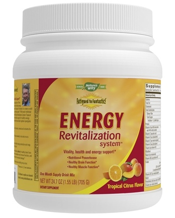 Enzymatic Therapy - Fatigued to Fantastic Energy Revitalization System Tropical Citrus Flavor - 24.7 oz.