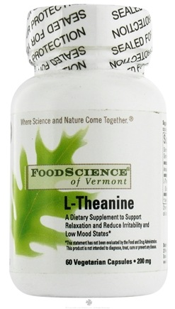 DROPPED: FoodScience of Vermont - L-Theanine - 60 Vegetarian Capsules