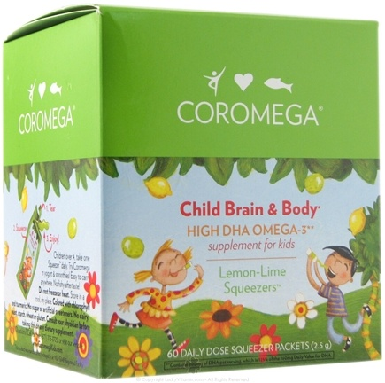 DROPPED: Coromega - Child Brain & Body High DHA Omega-3 Lemon Lime Flavor - 60 Packet(s)