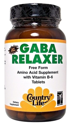 DROPPED: Country Life - GABA Relaxer Free Form Amino Acid Supplement with Vitamin B6 Rapid Release - 30 Tablets CLEARANCE PRICED