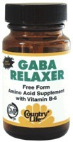 DROPPED: Country Life - GABA relaxer with B-6 Rapid Release - 60 Tablets