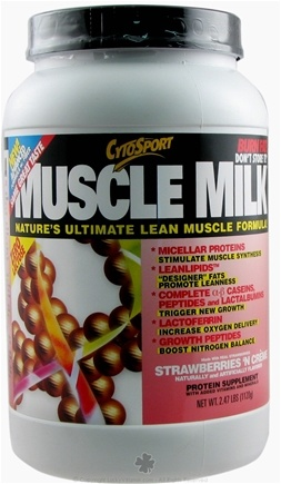 DROPPED: Cytosport - Muscle Milk Natural Ultimate Lean Muscle Formula Strawberries N' Creme - 2.48 lbs. CLEARANCE PRICED