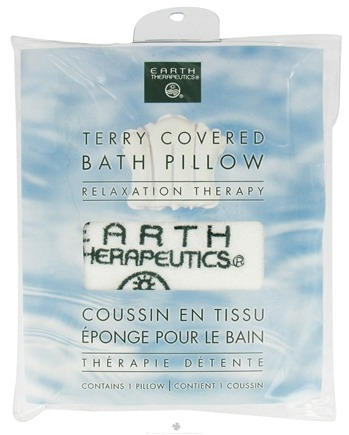 Earth Therapeutics - Terry-Covered Bath Pillow White
