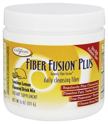 Enzymatic Therapy - Fiber Fusion Plus Drink Mix Luscious Lemon Flavored - 6 oz. Formerly Fiber Fusion 4.9 oz.