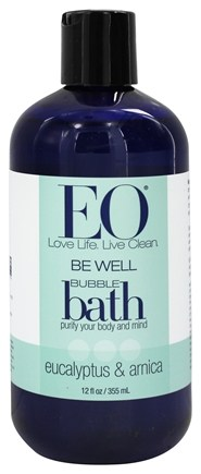 EO Products - Bubble Bath Be Well Eucalyptus & Arnica - 12 oz.