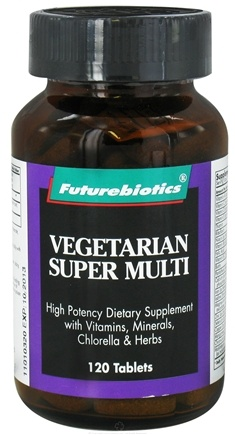 DROPPED: Futurebiotics - Vegetarian Super Multi - 120 Tablets CLEARANCE PRICED