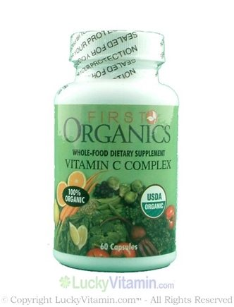 DROPPED: First Organics - First Organics Whole Food Vitamin C Complex - 60 Capsules