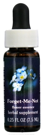 DROPPED: Flower Essence Services - Forget-Me-Not Flower Essence - 0.25 oz. CLEARANCE PRICED