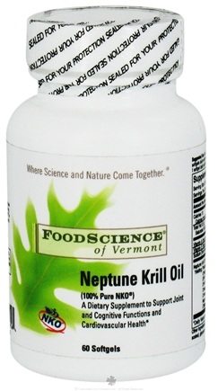 DROPPED: FoodScience of Vermont - Neptune Krill Oil - 60 Capsules