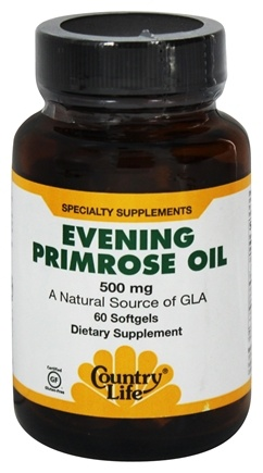 DROPPED: Country Life - Evening Primrose Oil 500 mg. - 60 Softgels