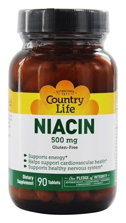 DROPPED: Country Life - Niacin 500 mg. - 90 Tablets
