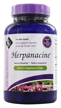 Diamond Herpanacine - Herpanacine Skin Support - 100 Vegetarian Capsules Formerly Herpanacine with Antioxidant
