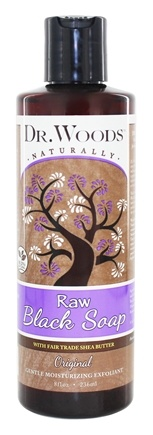 Dr. Woods - Liquid Raw Black Soap with Fair Trade Shea Butter Original - 8 oz.
