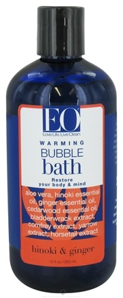 DROPPED: EO Products - Bubble Bath Warming Hinoki & Ginger - 12 oz.