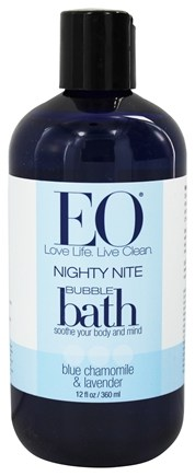 DROPPED: EO Products - Bubble Bath Nighty Nite Blue Chamomile & Lavender - 12 oz.