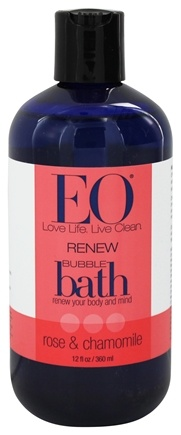 DROPPED: EO Products - Bubble Bath Renew Rose & Chamomile - 12 oz.